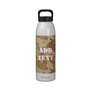Military Desert Camouflage Background Drinking Bottles