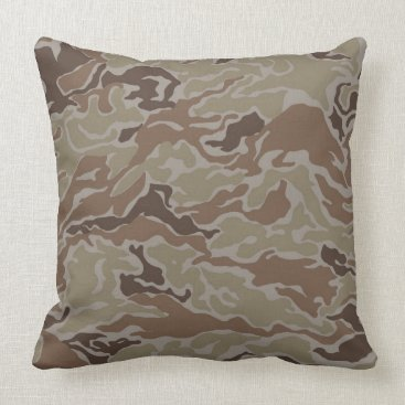 Military Desert Sand  Camo Throw Pillow