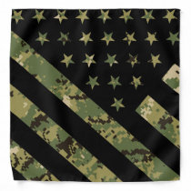 Military Digital Camouflage US Flag Bandana