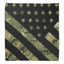 Military Digital Camouflage US Flag Bandana