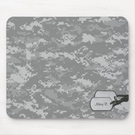 Military Digital Camouflage w/ ID Tags Mouse Pad