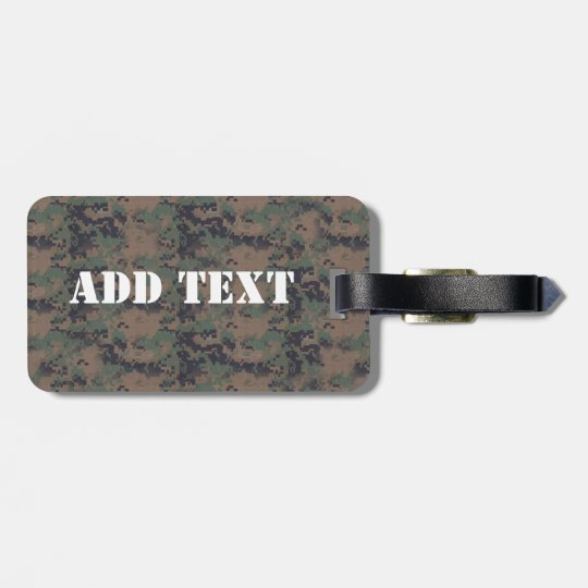 Military Digital Woodland Background Bag Tag