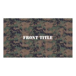 Military Digital Woodland Background Business Card
