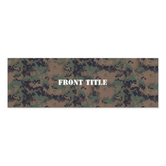 Military Digital Woodland Background Business Card Templates