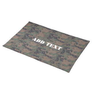Military Digital Woodland Background Cloth Place Mat
