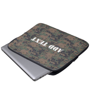Military Digital Woodland Background Computer Sleeve