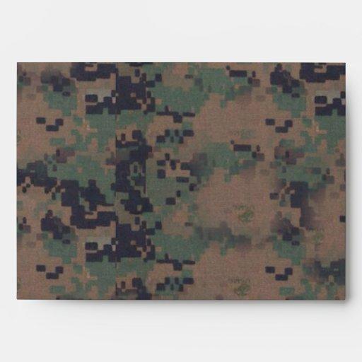 Military Digital Woodland Background Envelopes