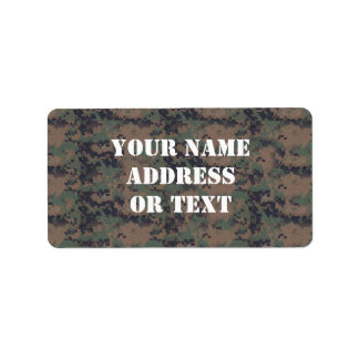 Military Digital Woodland Background Personalized Address Labels