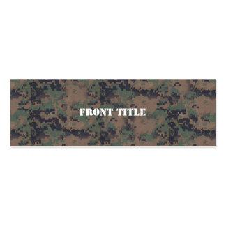 Military Digital Woodland Background Mini Business Card