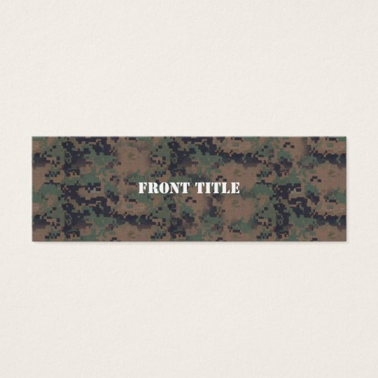 Military Digital Woodland Background Mini Business Card