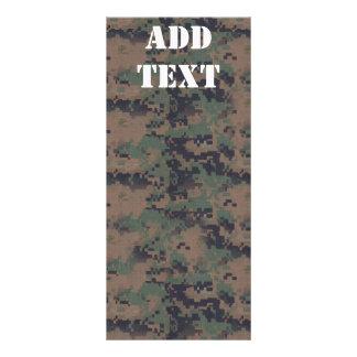 Military Digital Woodland Background Rack Card