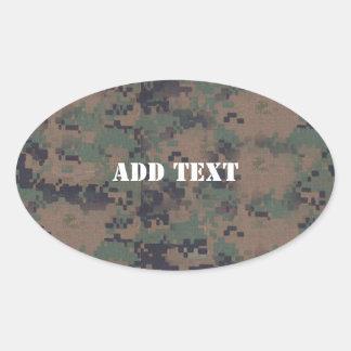 Military Digital Woodland Background Stickers