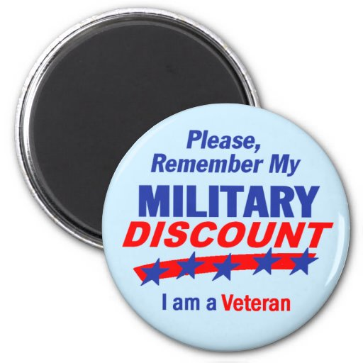 MILITARY DISCOUNT Magnet