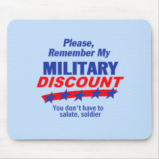 MILITARY DISCOUNT Mousepad