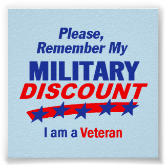 MILITARY DISCOUNT Poster