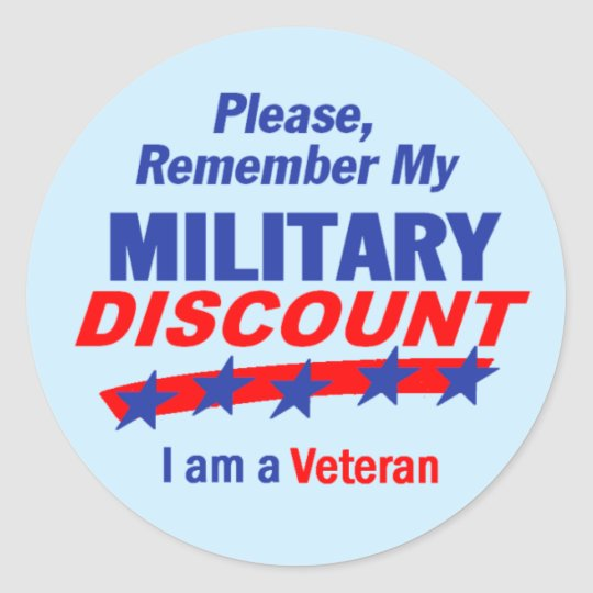 MILITARY DISCOUNT Sticker