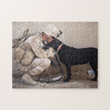 Military Dog Soldier Jigsaw Puzzle