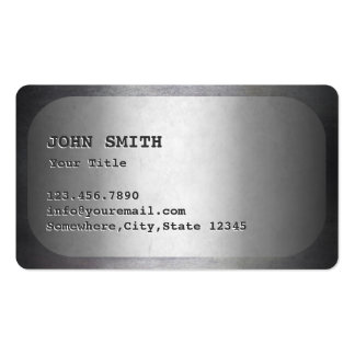 Military Dog Tag Faux Metal Business Card