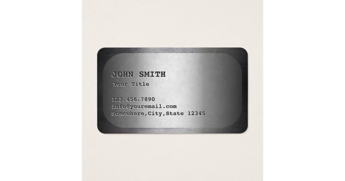 Military Dog Tag Faux Metal Business Card | Zazzle.com