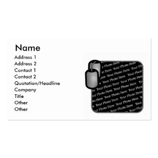 Military Dog Tag Photo Business Cards