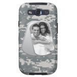 Military Dog Tags and Army ACUs Pattern Samsung Galaxy S3 Case