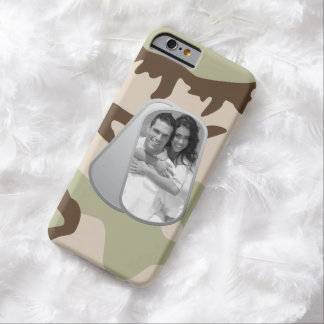 Military Dog Tags and Camouflage Pattern Barely There iPhone 6 Case