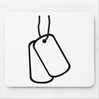 Military Dog Tags. Mouse Pad