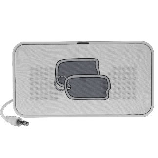 Military Dog Tags Portable Speaker