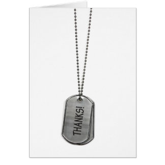Military Dog Tags Thanks Card