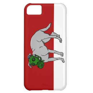 Military  Dog Wearing A Canine Gas Mask Cover For iPhone 5C
