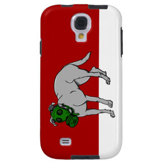 Military  Dog Wearing A Canine Gas Mask Galaxy S4 Case