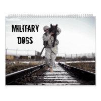 Military Dogs Active Duty Calendar