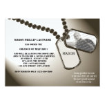 Military Dogtags Going Away Party Card