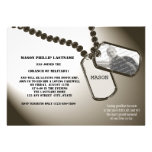 Military Dogtags Going Away Party Custom Invitation