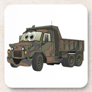Military Dump Truck Cartoon Coaster