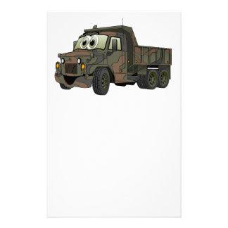 Military Dump Truck Cartoon Stationery
