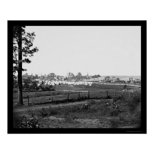 Military Encampment near Culpeper, VA 1863 Poster