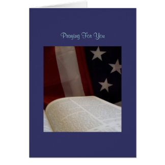 Military Encouragement Greeting Card