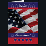 """Military Encouragement Card<br><div class=""""desc"""">Send this card to your favorite military person to give them encouragement. It features the American flag and stars.</div>"""