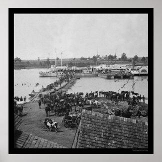 Military Evacuation at Port Royal VA 1864 Posters