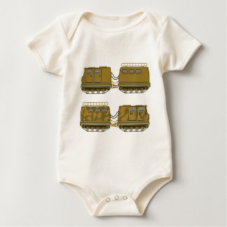 Military Expedition Tracked Tractor Baby Bodysuit