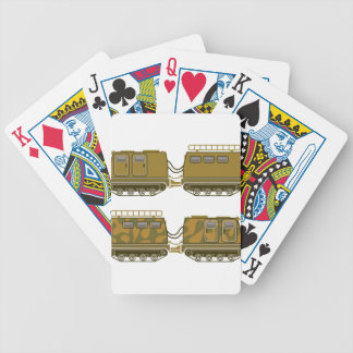 Military Expedition Tracked Tractor Bicycle Playing Cards