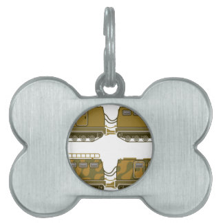 Military Expedition Tracked Tractor Pet Name Tag
