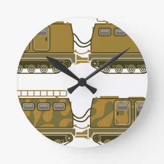 Military Expedition Tracked Tractor Round Clock