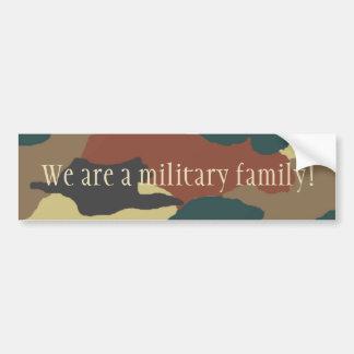 Military Family Camouflage Bumper Sticker Car Bumper Sticker