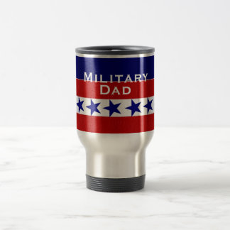 Military Family Dad Custom Personalized Travel Mug