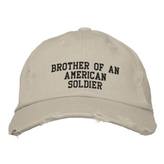 Military family embroidered hat