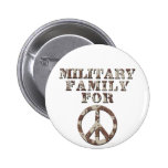 Military Family for Peace Button