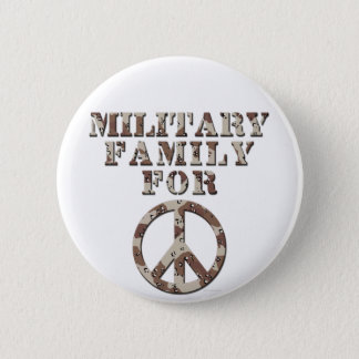 Military Family for Peace Pinback Button