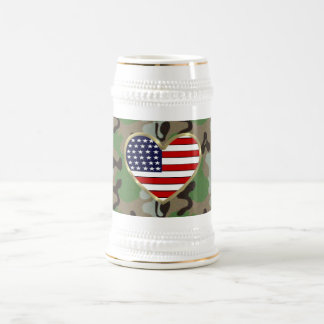 Military Family Love Beer Stein